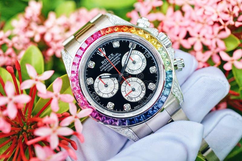 Rolex W kwiacie obraz royalty free