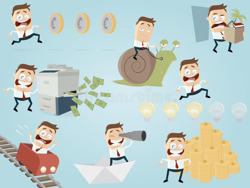 Rolig affärsmansamling vektor illustrationer