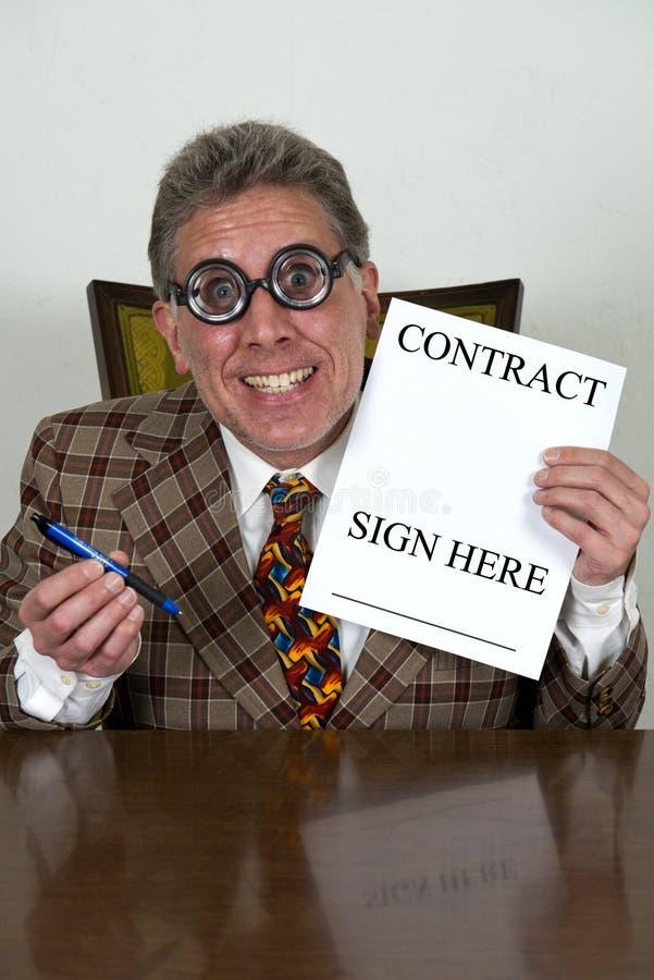 Rolig använd bilförsäljare eller krokig bankir, advokat royaltyfri foto