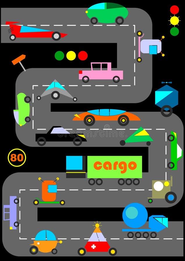 Rolig bakgrund för leksakbilvektor vektor illustrationer