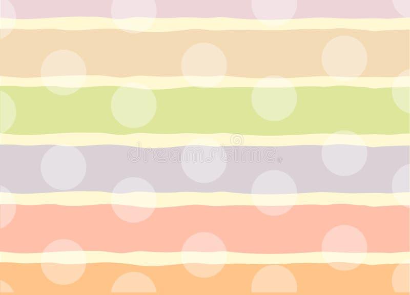 Rolig bakgrund med prickar vektor illustrationer