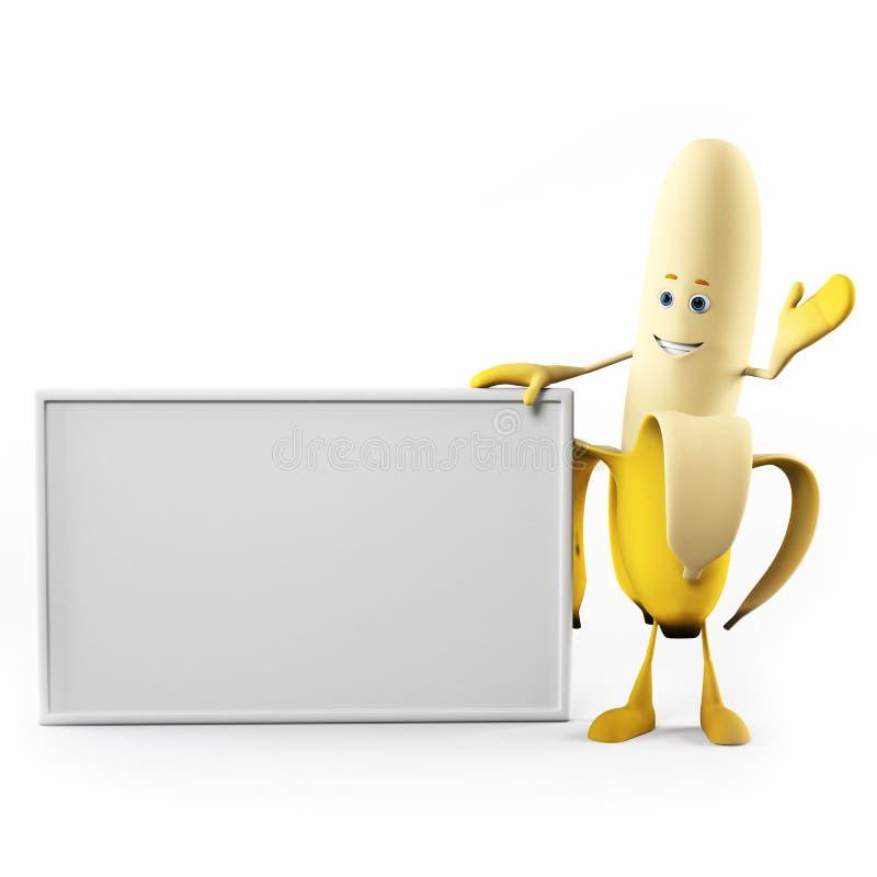 rolig banan royaltyfri illustrationer