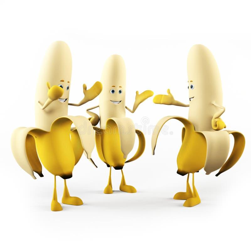 rolig banan stock illustrationer