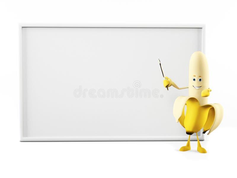 rolig banan vektor illustrationer