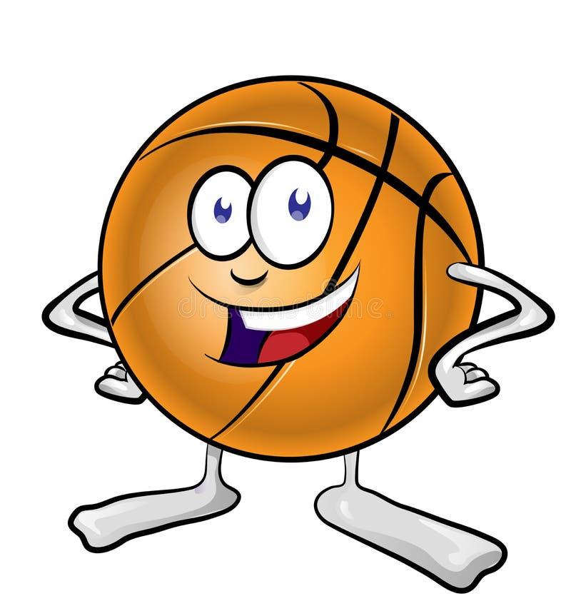 Rolig basketmaskottecknad film royaltyfri fotografi