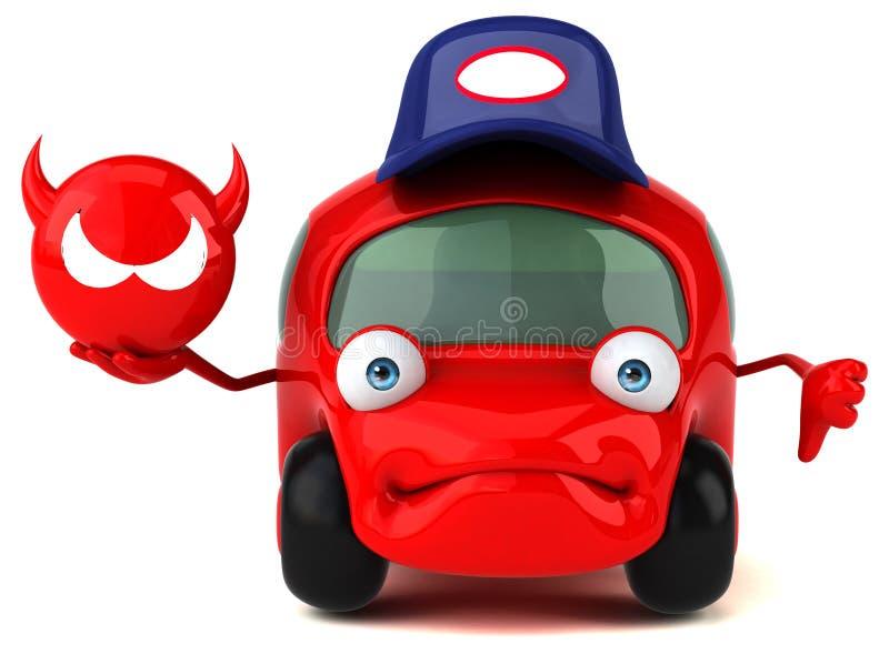 Rolig bil- illustration 3D stock illustrationer