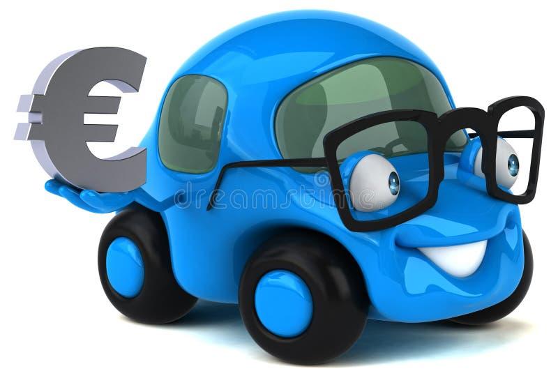 Rolig bil- illustration 3D vektor illustrationer