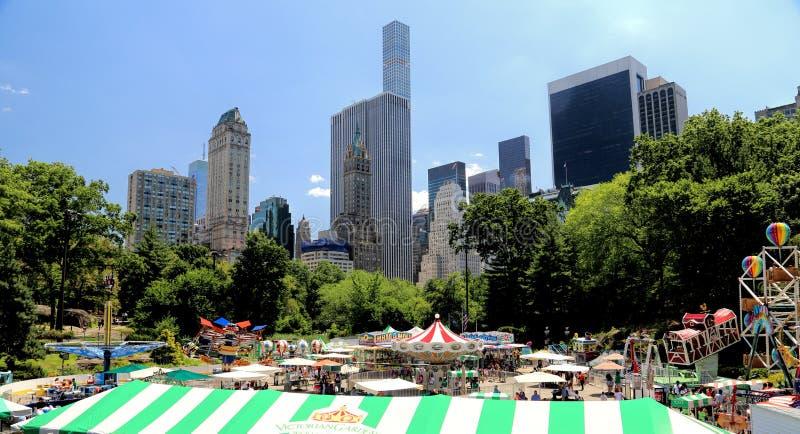 Rolig biljettpris i Central Park arkivfoton