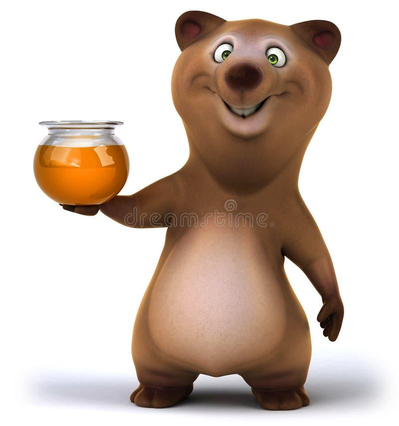 Rolig björn vektor illustrationer