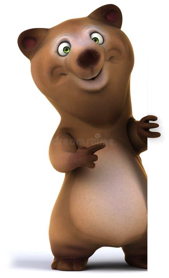 Rolig björn stock illustrationer
