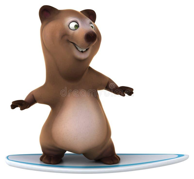 Rolig björn royaltyfri illustrationer