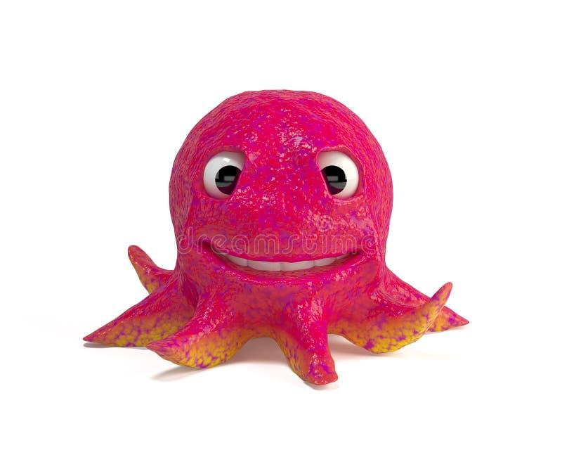rolig bläckfisk för tecknad film stock illustrationer