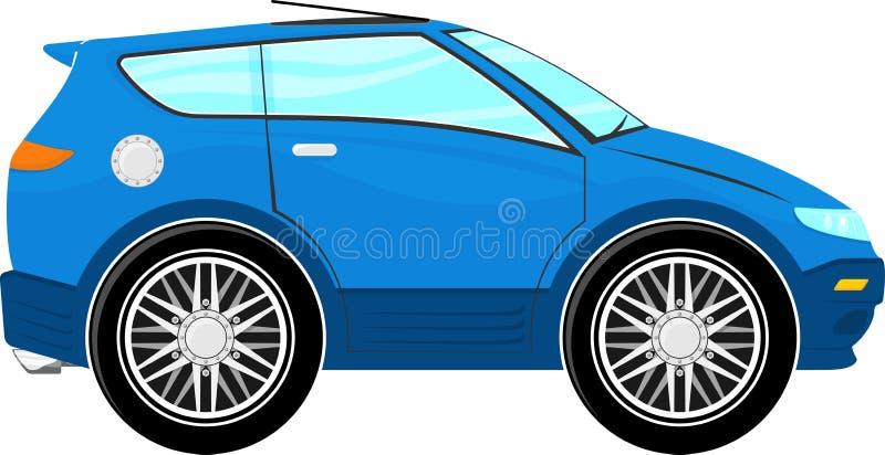 Rolig blå biltecknad film stock illustrationer
