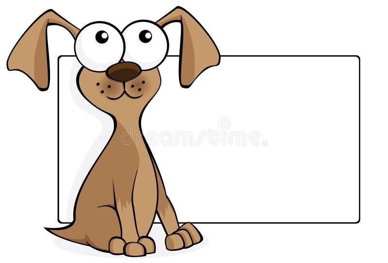 rolig brun hund vektor illustrationer