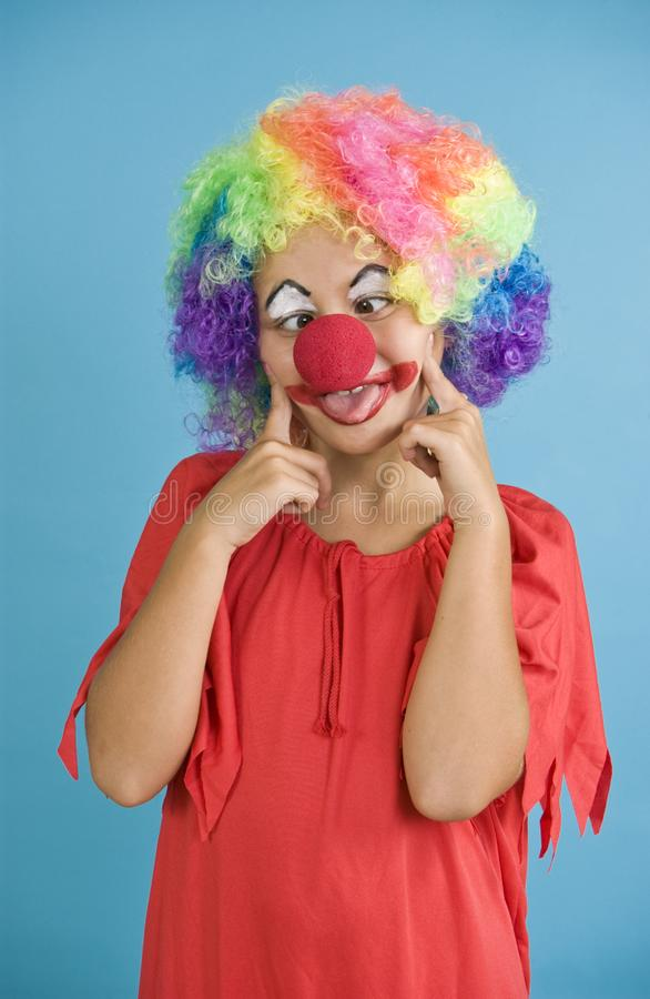 Rolig clown arkivbild