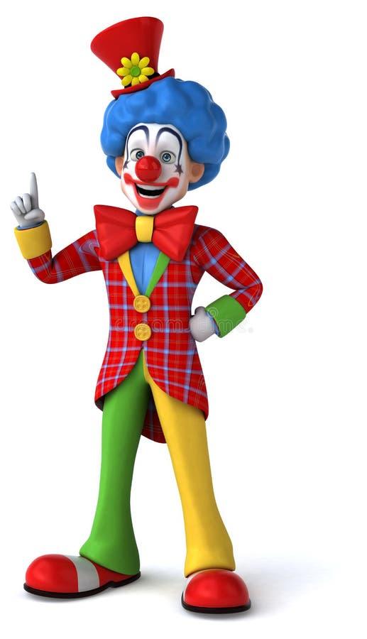 Rolig clown vektor illustrationer