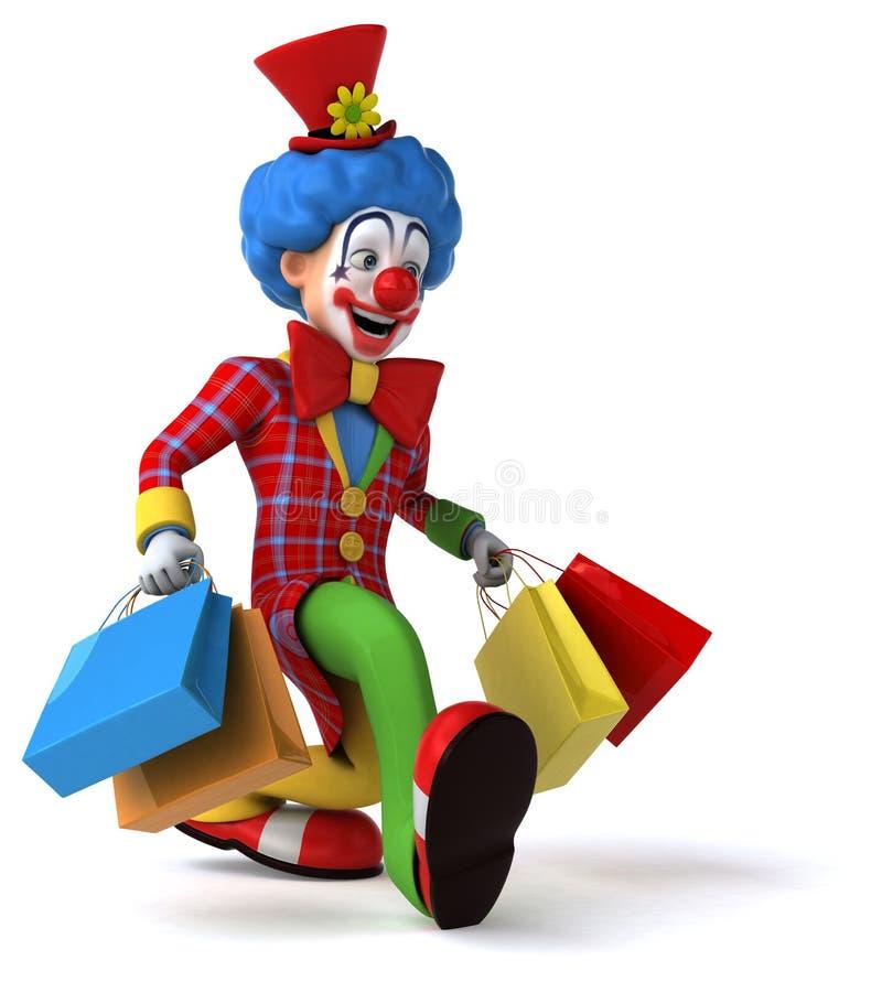 Rolig clown stock illustrationer