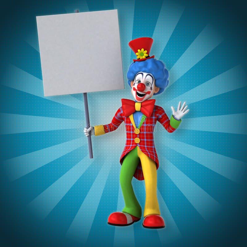Rolig clown royaltyfri illustrationer