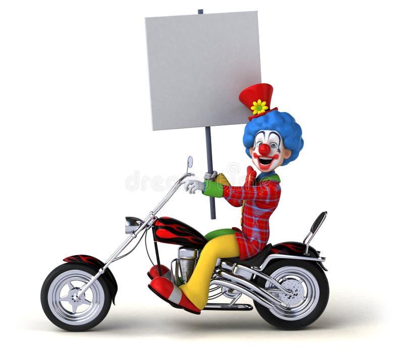 Rolig clown - illustration 3D stock illustrationer