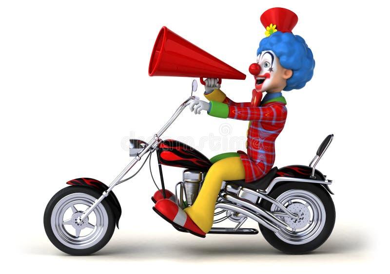 Rolig clown - illustration 3D vektor illustrationer