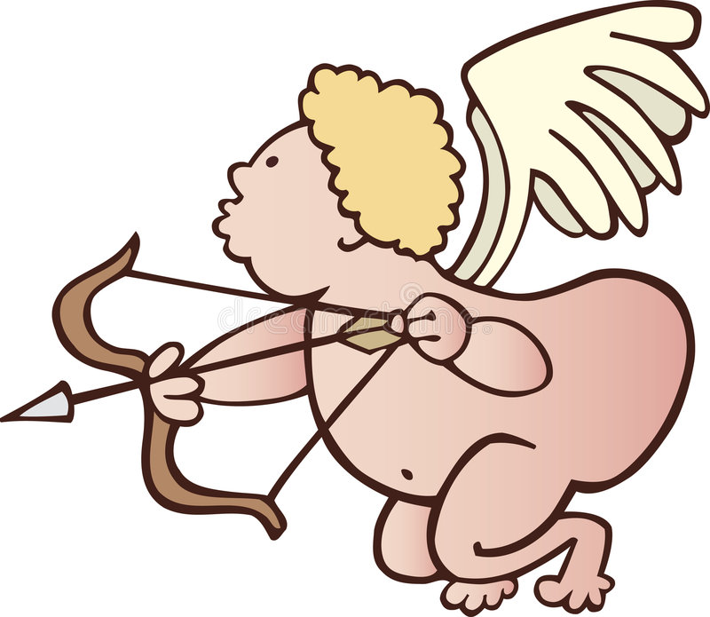 rolig cupid stock illustrationer