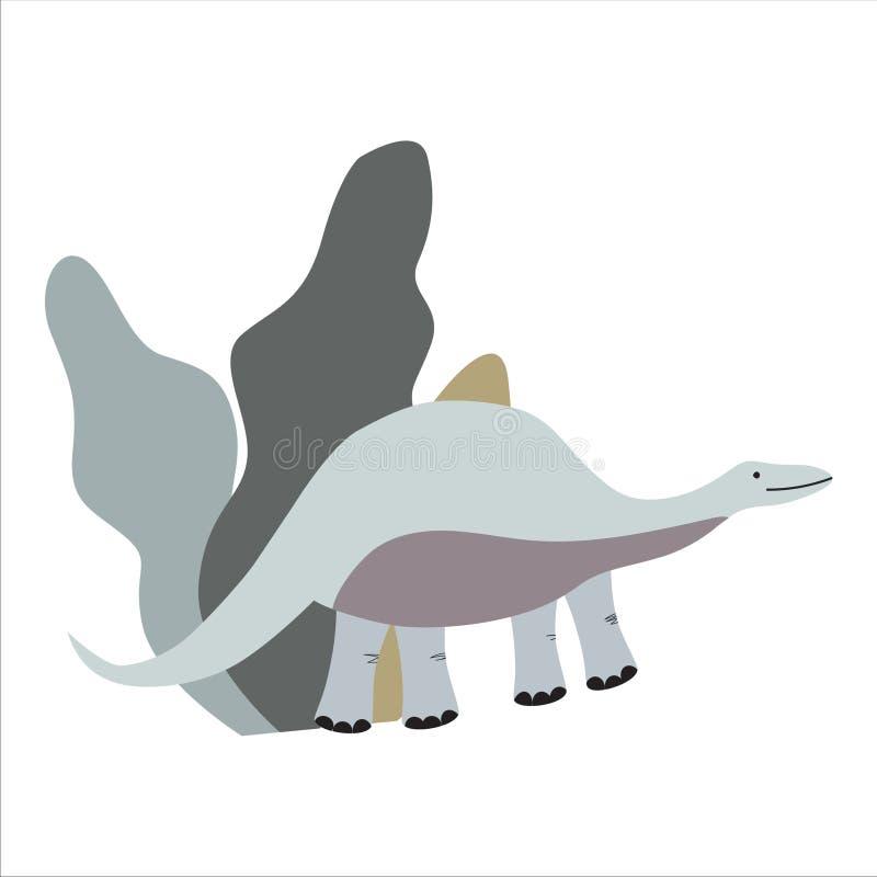 rolig dinosaur F?r ungedesign vektor illustrationer