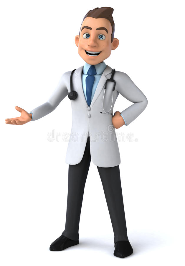 Rolig doktor stock illustrationer