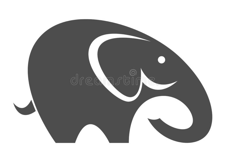 rolig elefant stock illustrationer