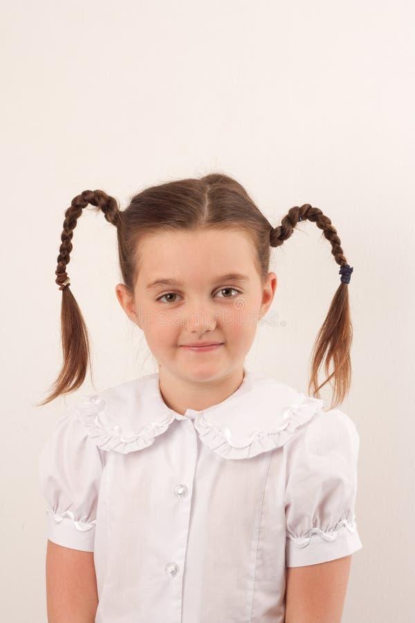 rolig för hårskola för flicka 2 stil royaltyfria foton