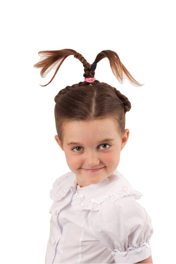 rolig för hårskola för flicka 5 stil arkivfoton