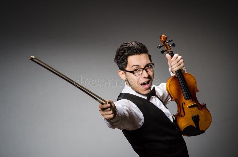 Rolig fiolspelare royaltyfri fotografi