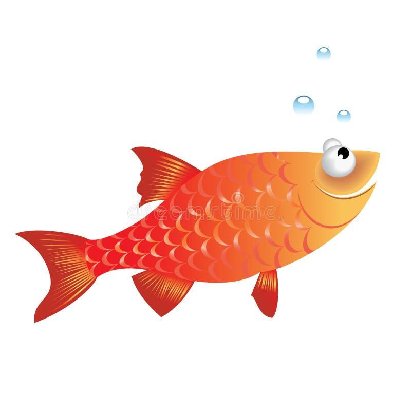 rolig fisk royaltyfri illustrationer