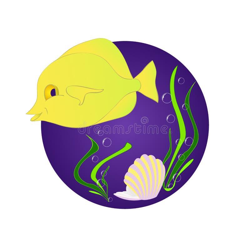 Rolig fiskzebrasoma vektor illustrationer