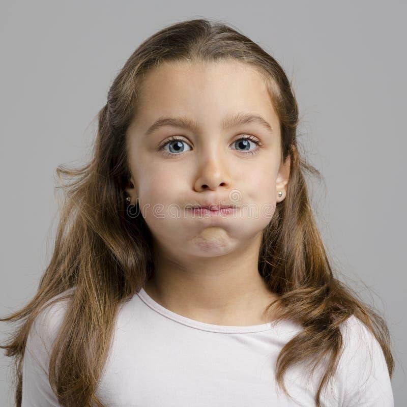 rolig flicka little arkivbild
