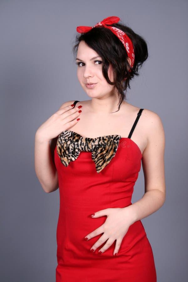 rolig flickautvikningsbrud arkivfoto