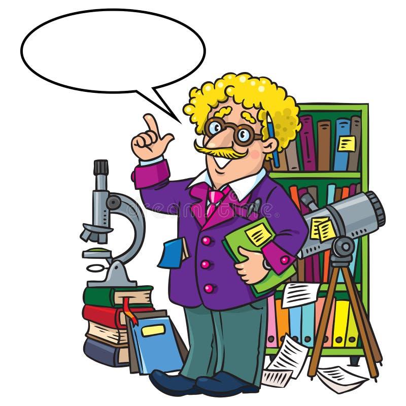 Rolig forskare eller uppfinnare, yrkeabcserie vektor illustrationer