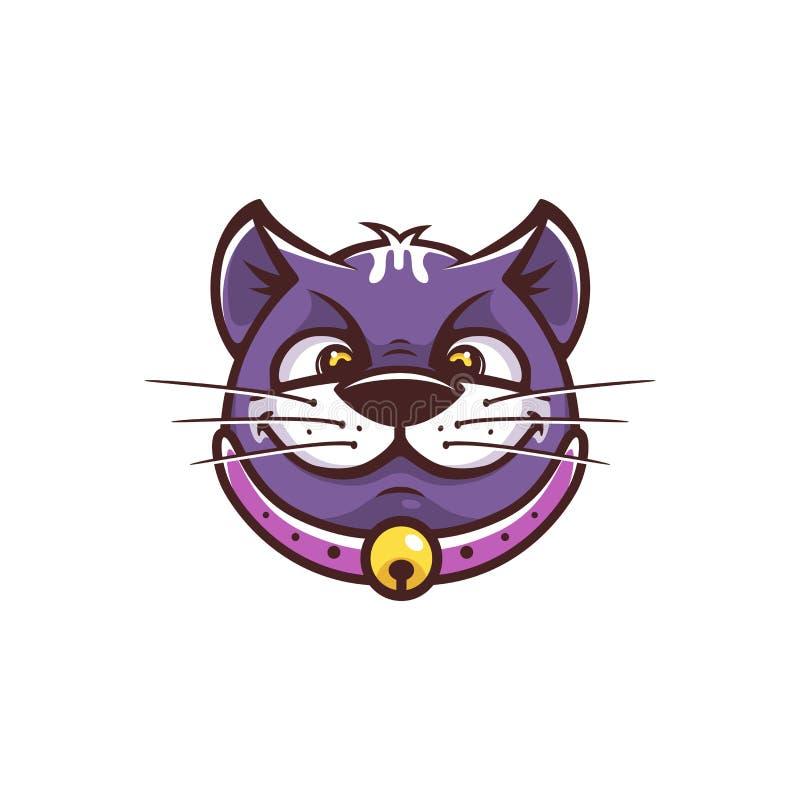 Rolig framsida för katt vektor illustrationer