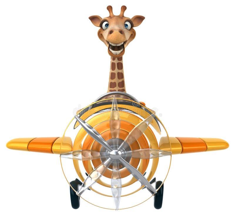 Rolig giraff royaltyfri illustrationer