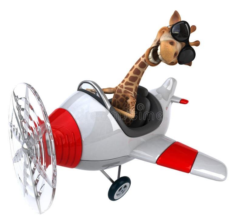 Rolig giraff stock illustrationer