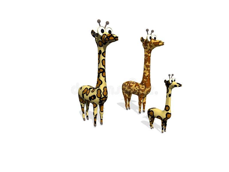 rolig giraffillustration vektor illustrationer