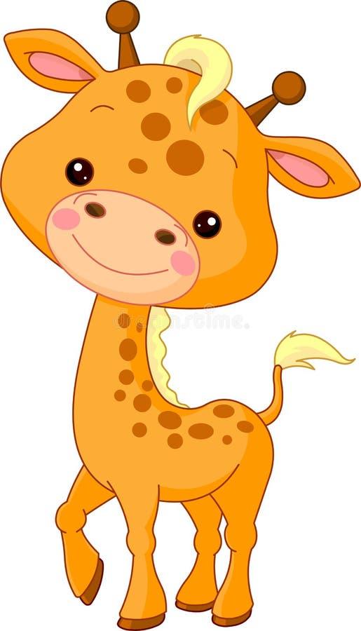 rolig giraffzoo vektor illustrationer