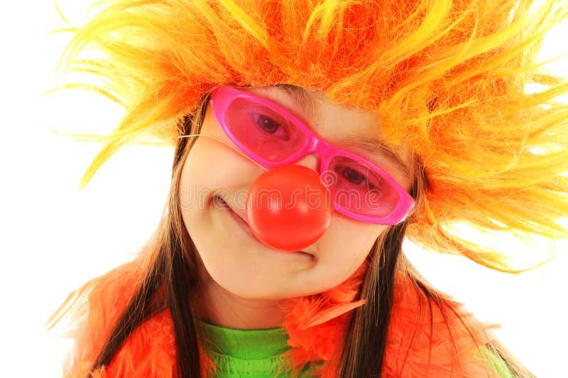 rolig glamour för clown royaltyfri foto
