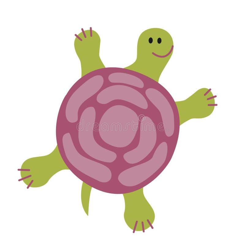 Rolig gräsplan för rolig sköldpadda royaltyfri illustrationer