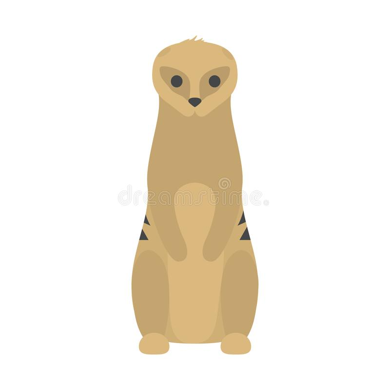 Rolig gullig meerkat Löst ökendjur från africa royaltyfri illustrationer