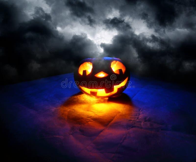 rolig halloween pumpa royaltyfri fotografi