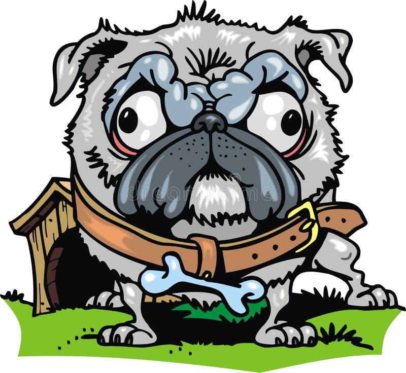 rolig hund royaltyfri illustrationer