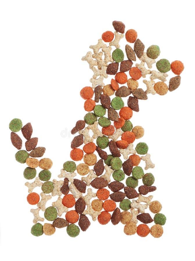 Rolig hundform från stycken av mat. royaltyfria bilder