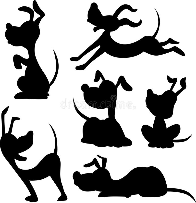 Rolig hundkontur - vektor royaltyfri illustrationer