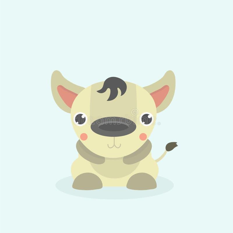 Rolig hyena för tecknad film royaltyfri illustrationer