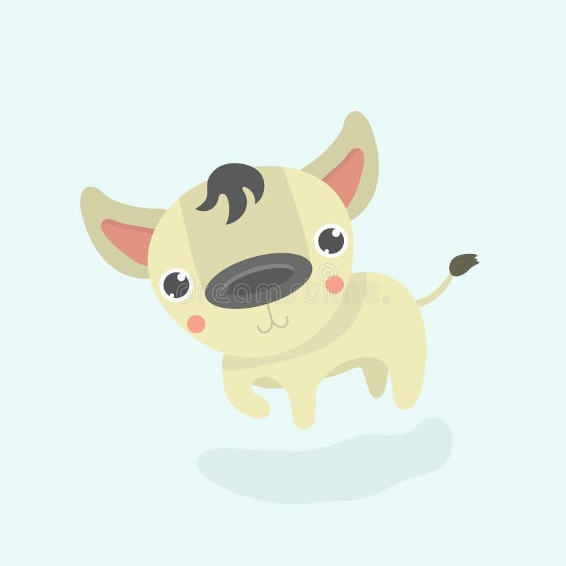 Rolig hyena för tecknad film stock illustrationer